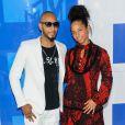 Alicia Keys et son mari Swizz Beatz - Photocall des MTV Video Music Awards 2016 au Madison Square Garden à New York. Le 28 août 2016