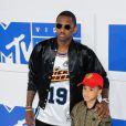 Fabolous et son fils Johan - Photocall des MTV Video Music Awards 2016 au Madison Square Garden à New York. Le 28 août 2016