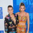 Jeremy Scott, Stella Maxwell la soirée des MTV Video Music Awards 2016 à Madison Square Garden à New York, le 28 août 2016