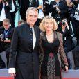 """Jeremy Irons et sa femme Sinéad Cusack - Première de """"La La Land"""" et cérémonie d'ouverture du 73ème festival du film de Venise (Mostra) le 31 août 2016."""