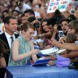 """Emma Stone - Première de """"La La Land"""" et cérémonie d'ouverture du 73ème festival du film de Venise (Mostra) le 31 août 2016."""