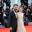 """Sonia Bergamasco et son mari Fabrizio Gifuni - Première de """"La La Land"""" et cérémonie d'ouverture du 73ème festival du film de Venise (Mostra) le 31 août 2016."""