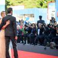 """Sonia Bergamasco and Fabrizio Gifuni à la première de """"La La Land"""" à la cérémonie d'ouverture du 73ème Festival du Film de Venise. Italie, le 31 août 2016."""