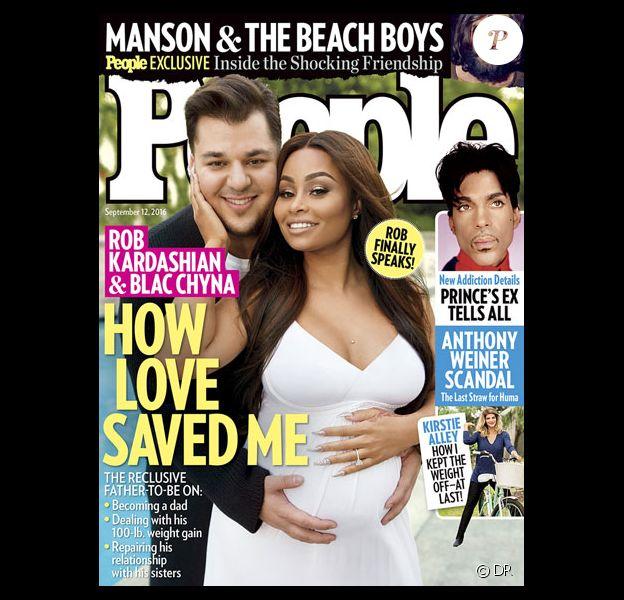Rob Kardashian fait la couverture du magazine People avec sa fiancée Blac Chyna au mois de septembre 2016