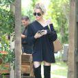 """Khloé Kardashian lors du tournage de la télé-réalité """"L'Incroyable Famille Kardashian"""" à Woodland Hills le 5 aout 2016."""