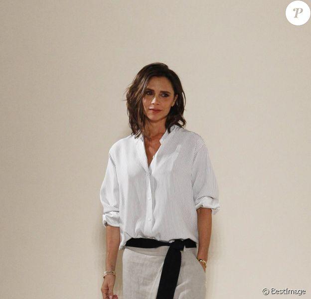 La styliste Victoria Beckham à son Défilé de mode prêt-à-porter printemps-été 2017lors de la fashion week de New York. Le 11 septembre 2016