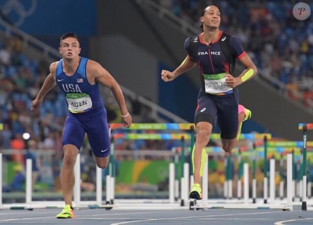 Pascal Martinot-Lagarde aux JO de Rio de Janeiro le 16 août 2016. Le Français a fini 4e de la finale du 110m haies.