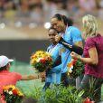 """Pascal Martinot-Lagarde lors du meeting Herculis au Stade Louis II à Monaco le 18 juillet 2014, au cours duquel il a établi le nouveau record de France du 110m haies (12""""95)."""