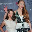"""Maisie Williams, Sophie Turner - Présentation de la saison 4 de la série """"Game of Thrones"""" à New York, le 19 mars 2014."""