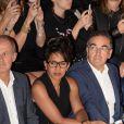 Audrey Pulvar, Christopher Baldelli (president du directoire RTL)-9ème édition de l'Etam Live Show par Etam au Centre Pompidou. Paris, le 27 septembre 2016.