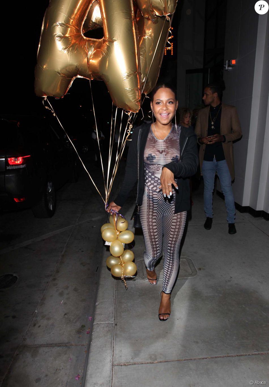 Christina Milian fête son anniversaire à Los Angeles le 27 septembre 2016.