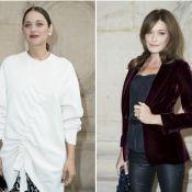 Marion Cotillard enceinte et divine chez Dior devant Carla Bruni