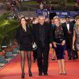 Anne Parillaud, Claude Lelouch, Florence Thomassin et Victoria Bedos lors de la cérémonie de clôture du 27ème Festival du film britannique de Dinard, le 1er octobre 2016