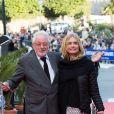 Hugh Hudson et sa femme Maryam d'Abo lors de la cérémonie de clôture du 27ème Festival du film britannique de Dinard, le 1er octobre 2016