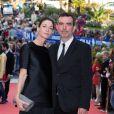 Simon Aboud et Mary Anna McCartney lors de la cérémonie de clôture du 27ème Festival du film britannique de Dinard, le 1er octobre 2016