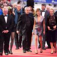 Phil Davies, Anne Parillaud, Claude Lelouch, Victoria Bedos, Julie Ferrier et Jalil Lespert lors de la cérémonie de clôture du 27ème Festival du film britannique de Dinard, le 1er octobre 2016