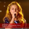 """Lou dans """"The Voice Kids 3"""", le 8 octobre 2016 sur TF1."""