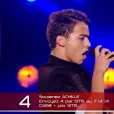 """Achille dans """"The Voice Kids 3"""" le 8 octobre 2016 sur TF1."""