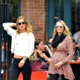 Candice Swanepoel enceinte et Doutzen Kroes à New York, le 5 juin 2016 © CPA/Bestimage
