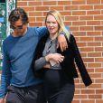 Exclusif - Candice Swanepoel enceinte se promène avec son fiancé Hermann Nicoli dans le quartier de Soho à New York, le 9 mai 2016.