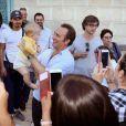 """Exclusif - Jean Dujardin présente en avant-première """"Brice 3"""" à Lesparre, son village d'enfance, le 23 Septembre 2016"""