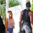 Khloé Kardashian et son nouveau boyfriend Tristan Thompson arrivent à leur hôtel à Miami Le 17 septembre 2016.