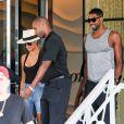 Khloé Kardashian et son nouveau compagnon Tristan Thompson à Miami le 18 septembre 2016.