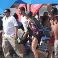 Khloé Kardashian et son nouveau compagnon le joueur de la NBA Tristan Thompson sont en vacances avec des amis sur la plage à Cabo San Lucas, le 5 septembre 2016.