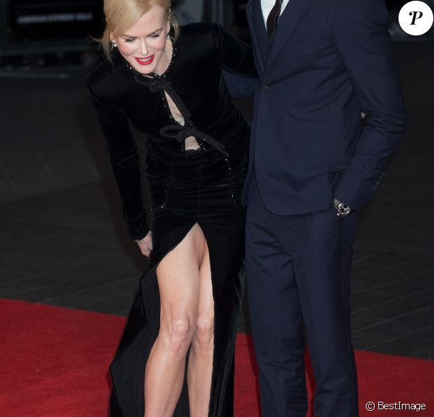 """Nicole Kidman et Dev Patel arrivant à la projection du film """"Lion"""" pendant le Gala American Express lors du 60ème BFI, le Festival du Film de Londres, au Odeon Leicester Square à Londres, le 12 octobre 2016."""