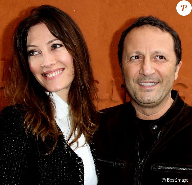 Mareva Galanter et son compagnon Arthur au village des internationaux de France de tennis à Roland Garros à Paris 5 juin 2016.