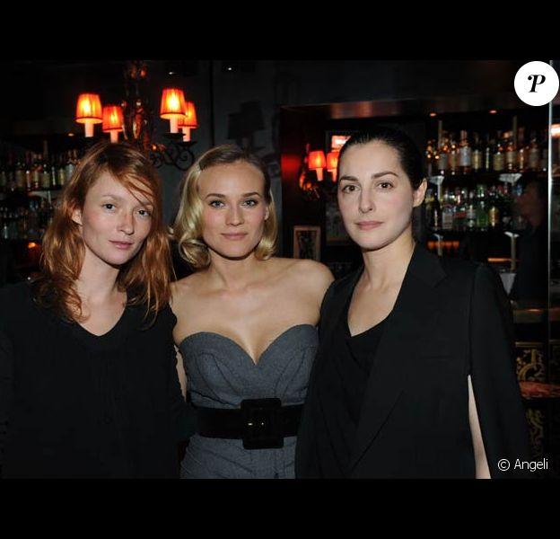 Diane Kruger, Audrey Marnay et Amira Casar au dîner Jaeger LeCoultre en l'honneur du film Pour elle