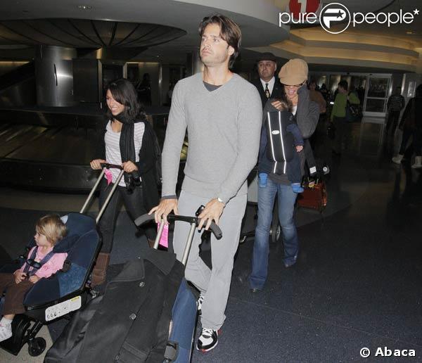 David Charvet, son épouse Brooke Burke et leurs enfants Heaven Rain et Shaya