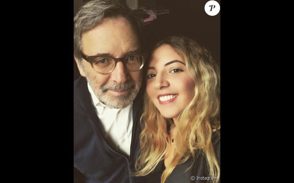 Raphaëlle Paolini et son père, Nonce Paolini (photo Instagram).