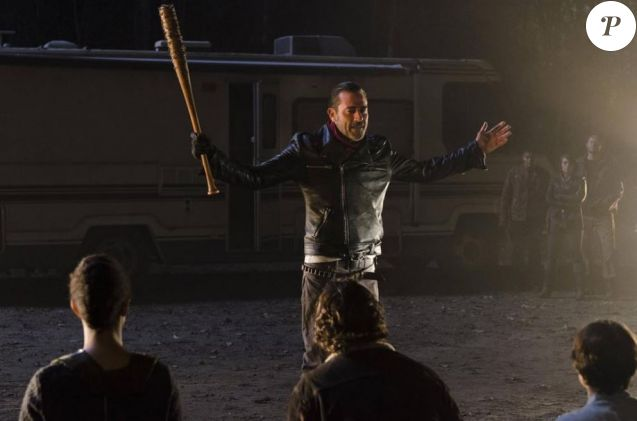 "Jeffrey Dean Morgan joue Negan dans ""The Walking Dead"", octobre 2016, épisode 7, saison 7"