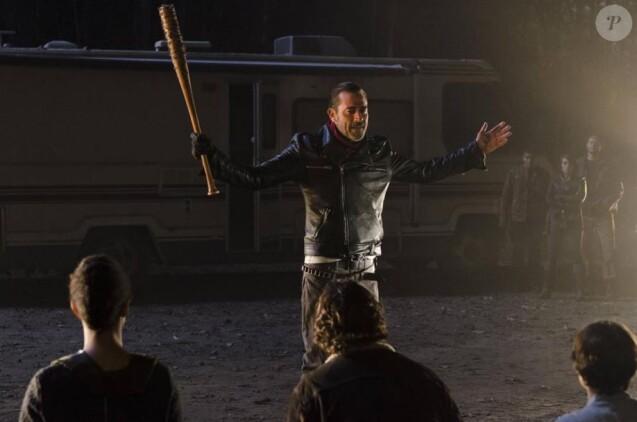 """Jeffrey Dean Morgan joue Negan dans """"The Walking Dead"""", octobre 2016, épisode 7, saison 7"""