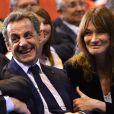 Nicolas Sarkozy et sa femme Carla Bruni-Sarkozy - Nicolas Sarkozy en meeting à la salle Vallier à Marseille pour la campagne des primaires de la droite et du centre en vue de l'élection présidentielle de 2017, le 27 octobre 2016. © Bruno Bébert/Bestimage