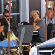 Paris Jackson déjeune avec son compagnon Michael Snoody à Los Angeles le 9 juillet 2016. © CPA / Bestimage