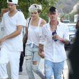 Paris Jackson et son petit ami - Les célébrités arrivent à une fête privée au restaurant Nobu à Los Angeles, le 4 juillet 2016 Celebrities are seen at a private party at Nobu in Los Angeles, California on July 4, 201604/07/2016 - Los Angeles