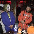Lewis Hamilton et Terrence J -Soirée de Halloween animée par Heidi Klum au Vandal. New York, le 31 octobre 2016.