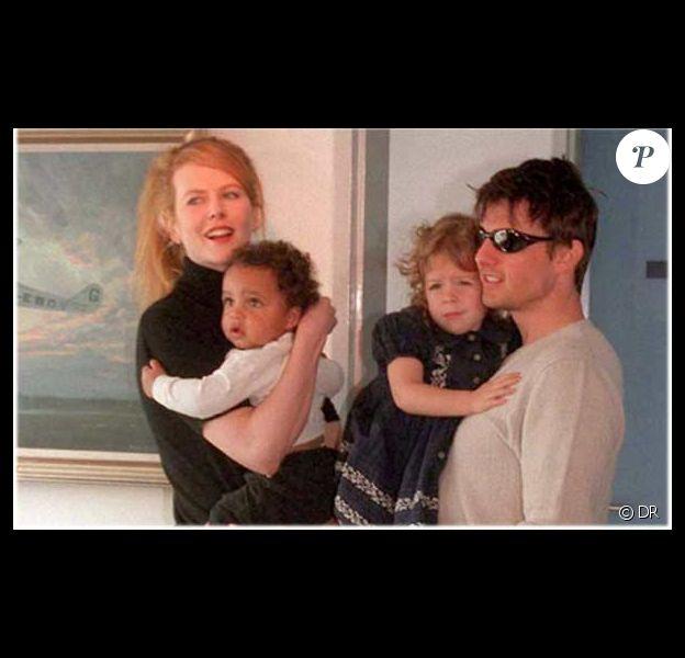 Nicole Kidman et Tom Cruise avec leur enfants adoptifs