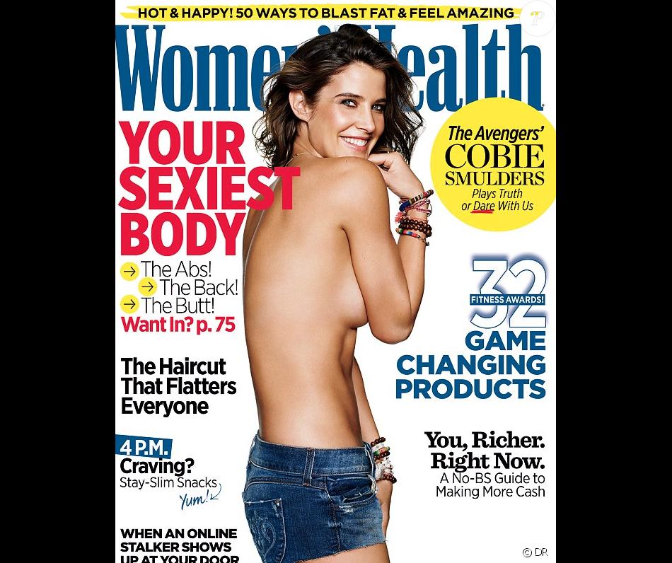 Cobie Smulders topless en une du magazine Women's Health au mois d'avril 2015
