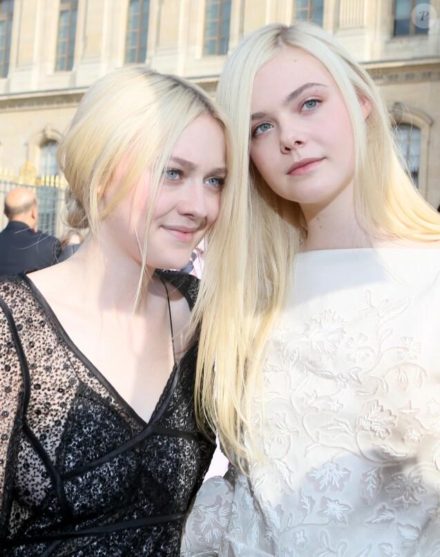 Dakota et Elle Fanning à Paris, le 2 octobre 2013.