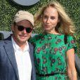 Michael J. Fox et sa femme Tracy lors du quatorzième jour de l'US Open 2016 au USTA Billie Jean King National Tennis Center à Flushing Meadow, New York City, New York, Etats-Unis, le 11 septembre 2016.