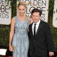 Tracey Pollan et son mari Michael J Fox - 71eme ceremonie des Golden Globe Awards au Beverly Hilton Hotel a Beverly Hills, le 12 janvier 2014.