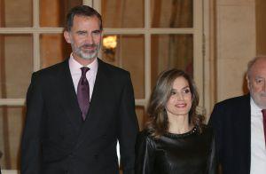 Letizia d'Espagne, sexy en cuir, auprès de Felipe : Nuit de récompenses au Ritz