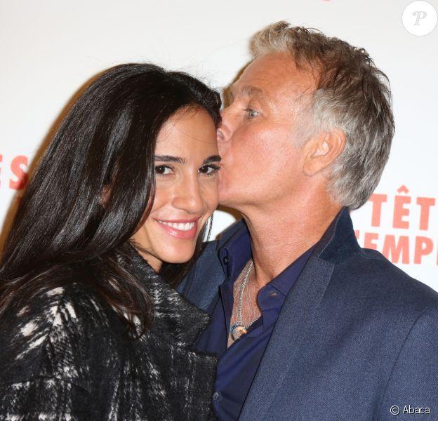 Franck Dubosc et sa femme Daniele à la première du film Les Têtes de l'Emploi au Gaumont Opéra à Paris, France, le 14 novembre 2016