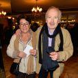 """Exclusif - Popeck et sa femme Anne -  Spectacle exceptionnel """"Comic-Art"""" avec Christelle Chollet et Richard Orlinski au théâtre du Palais Royal à Paris le 14 novembre 2016. © Coadic Guirec/Bestimage"""