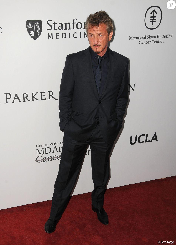 Sean Penn à la soirée caritative Sean Parker (The Parker Institute for Cancer Immunotherapy) à Beverly Hills, le 13 avril 2016