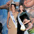 """Iris Mittenaere (Miss France 2016) et Vaea Ferrand (Miss Tahiti 2016) - Avant-première du film d'animation """"Vaiana, la légende du bout du monde"""" au Cinéma le Grand Rex à Paris, France, le 15 novembre 2016. © Veeren/Bestimage"""