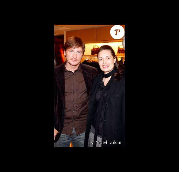 Benoît Magimel et Nikita à la soirée Tod's ''shopping de noël'', le 11/12/08